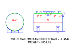 300 Gallon Flameshield